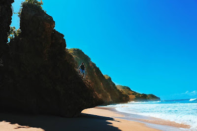 pantai private, pantai sepi, pantaitersembunyi gunung kidul, jogja