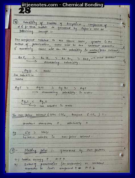 Chemical Bonding Notes IITJEE 4