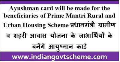 Pradhan Mantri Rural and Urban Housing Scheme