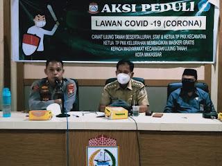 Kapolsek Ujung Tanah Rakor Bersama Stakeholder Jelang PSBB Makassar