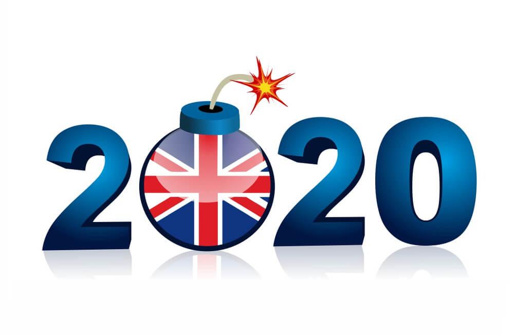Happy New Year 2020 United Kingdom, Union Jack