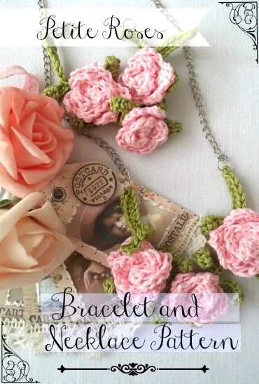 Petite Rose Necklace & Bracelet – free pattern