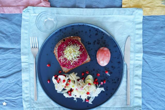 assiette complète colorée