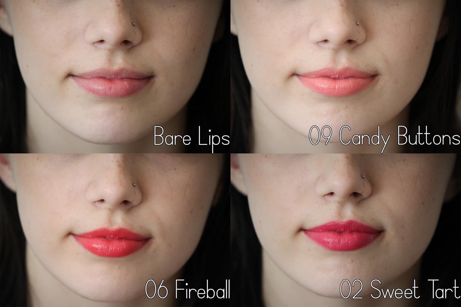 NYX Butter Lipsticks Candy Buttons, Fireball, Sweet Tart