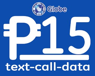 Globe list of 15 Pesos Promo for Call, Text and Data