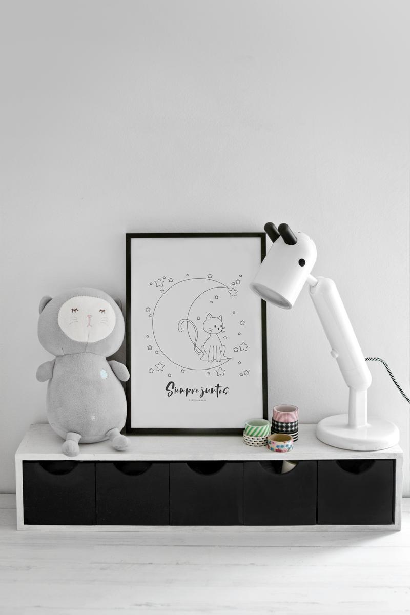 Free download print for kids 'Always together' / Lámina infantil gratuita para imprimir 'Siempre juntos'