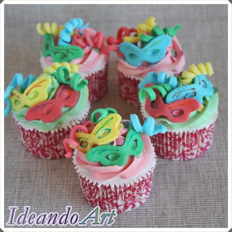 Cupcakes carnaval