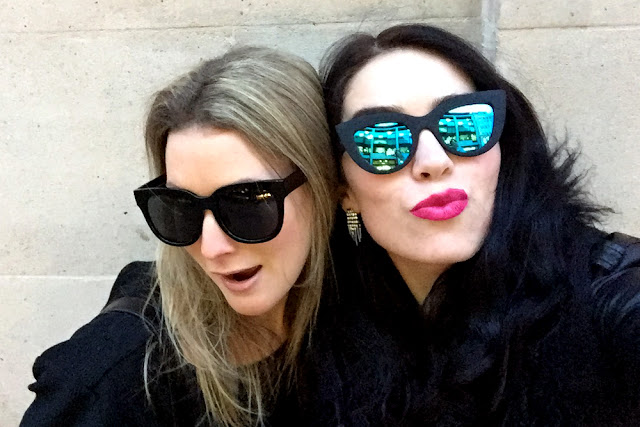 BFFs at LFW - London fashion week outfit - style blogger Emma Louise Layla