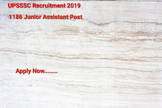 UPSSSC Recruitment 2019- Apply Online For 1186 Jr Asst. Post