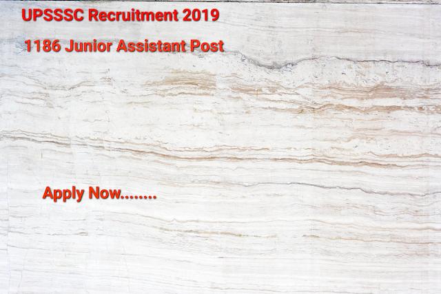 UPSSSC Recruitment 2019- Apply Online For 1186 Jr Asst. General Posts
