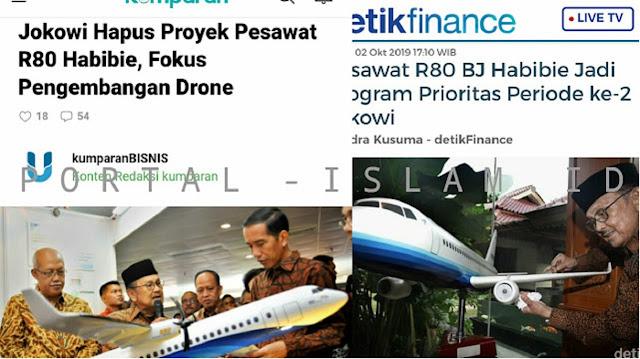 Jokowi Hapus Proyek Pesawat R80 Habibie dan Lanjutkan Kereta Cepat Indonesia-China, Warganet: Pranksiden Jokowi Strikes Again