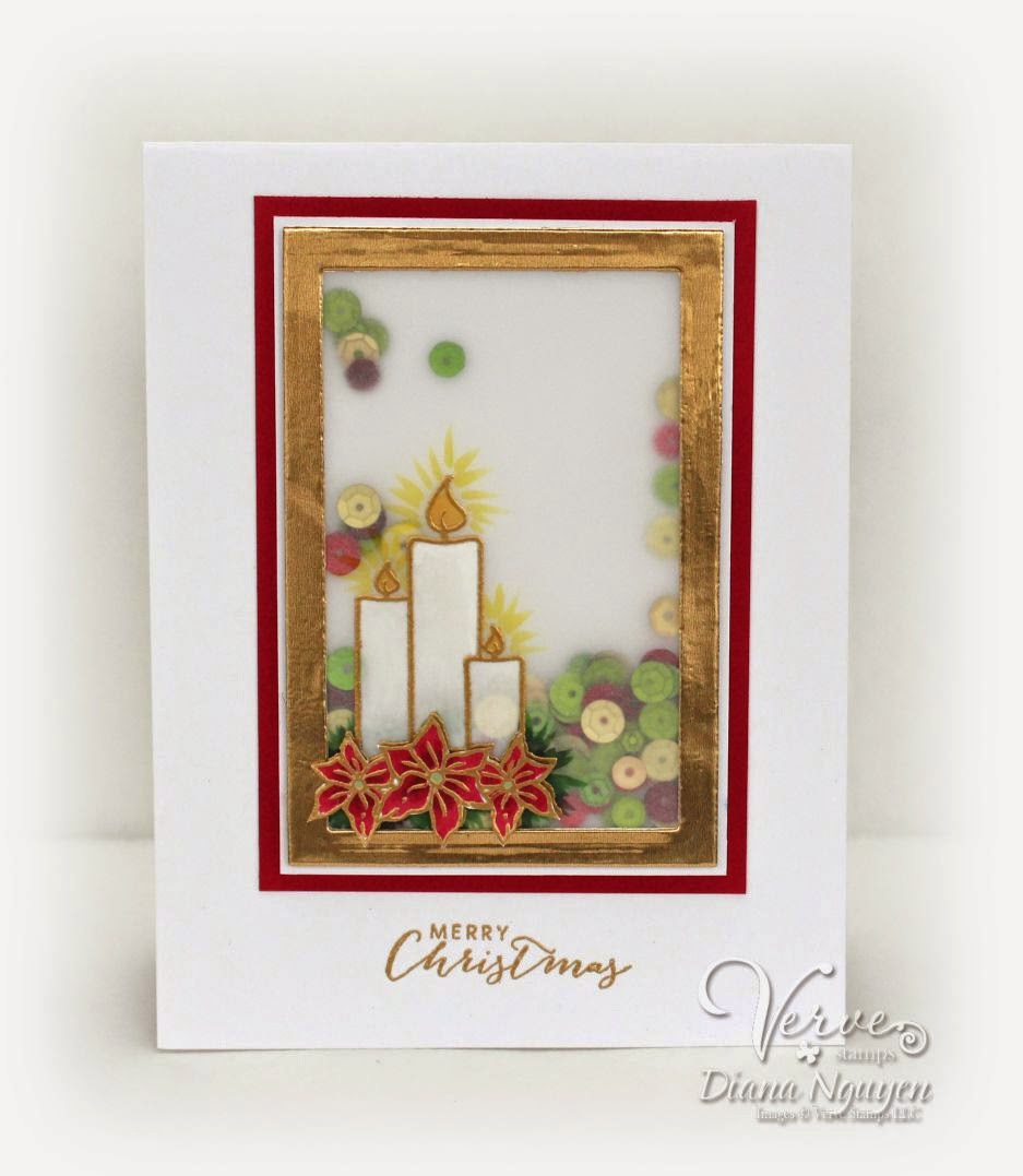 Verve, Light my world, Christmas, card, candle, Diana Nguyen