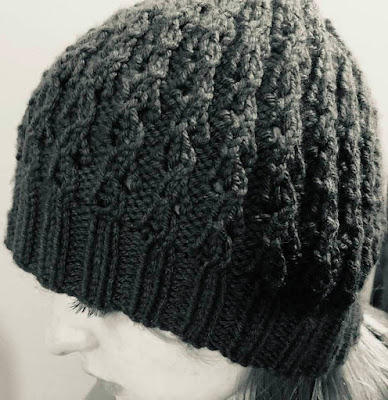 Easy Lace Beanie Knitting Pattern