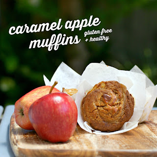 Gluten Free Caramel Apple Muffins Recipe - gluten free, healthy, sugar free, low fat, dairy free, clean eating recipe, dessert, snack, easy, simple