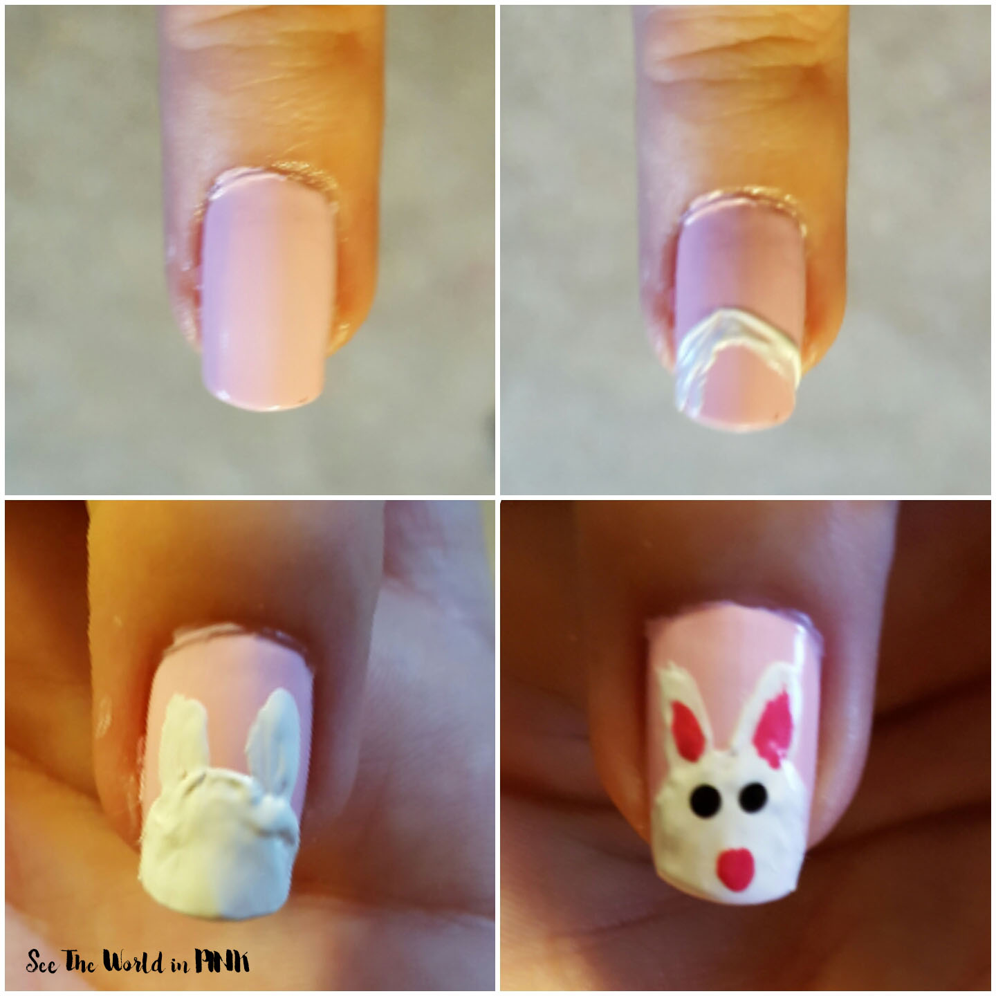 Manicure Tuesday - Easter Bunny Nails!!!