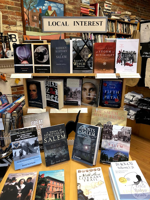 Wicked Good Books in Salem, MA local interest table