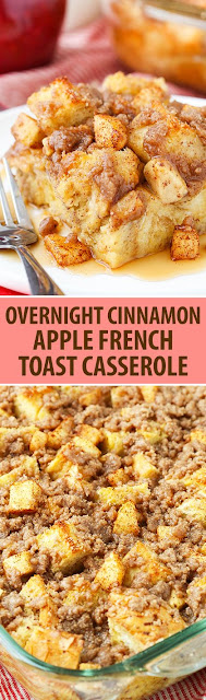 The Perfect Overnight Cinnamon Apple Baked French Toast Casserole