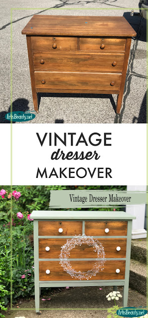 VINTAGE DRESSER MAKEOVER BEFORE AND AFTER