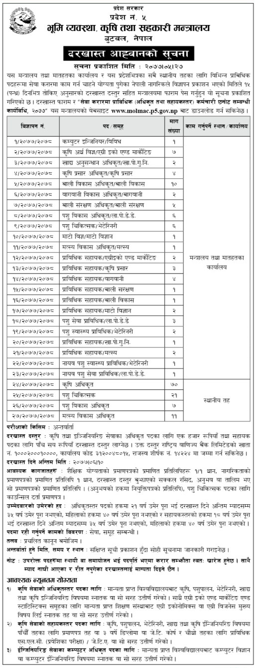 Vacancies Announced For Around 200 Government Job On Various Post