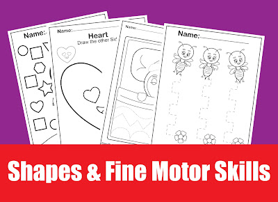 50+ basic shapes and fine motor skills activities free preschool coloring pages for kids to print
