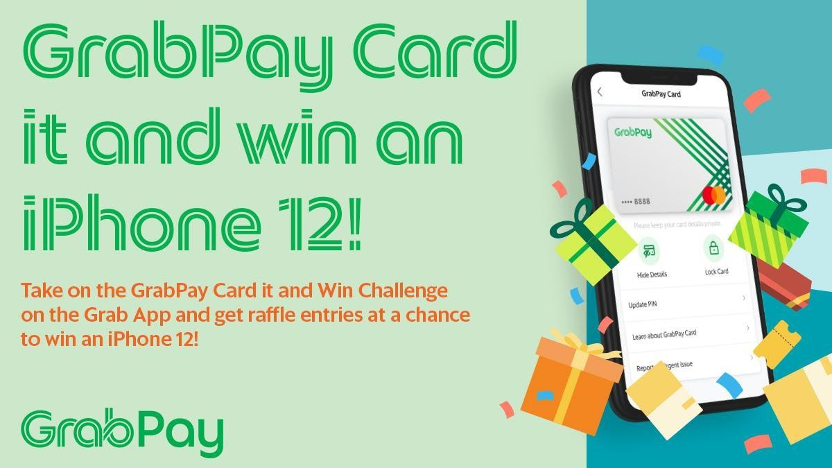 Use your GrabPay Card to get a chance to win an iPhone 12