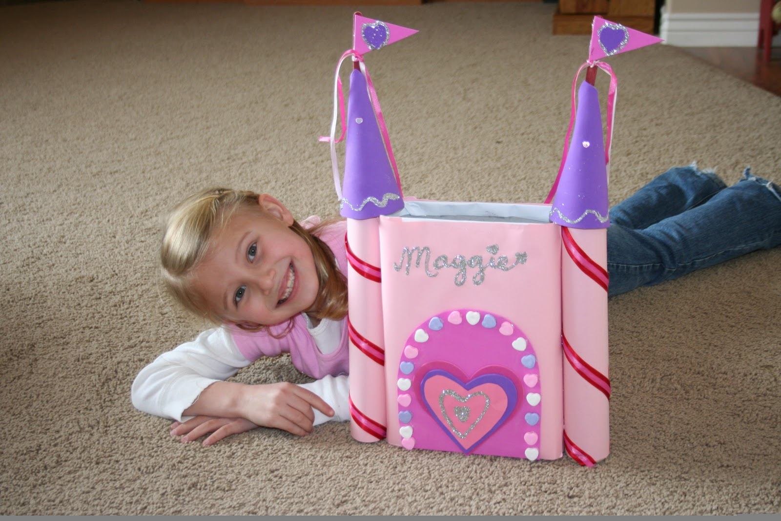 Mommy Lessons 101 Creative Valentine Box 6 Castle