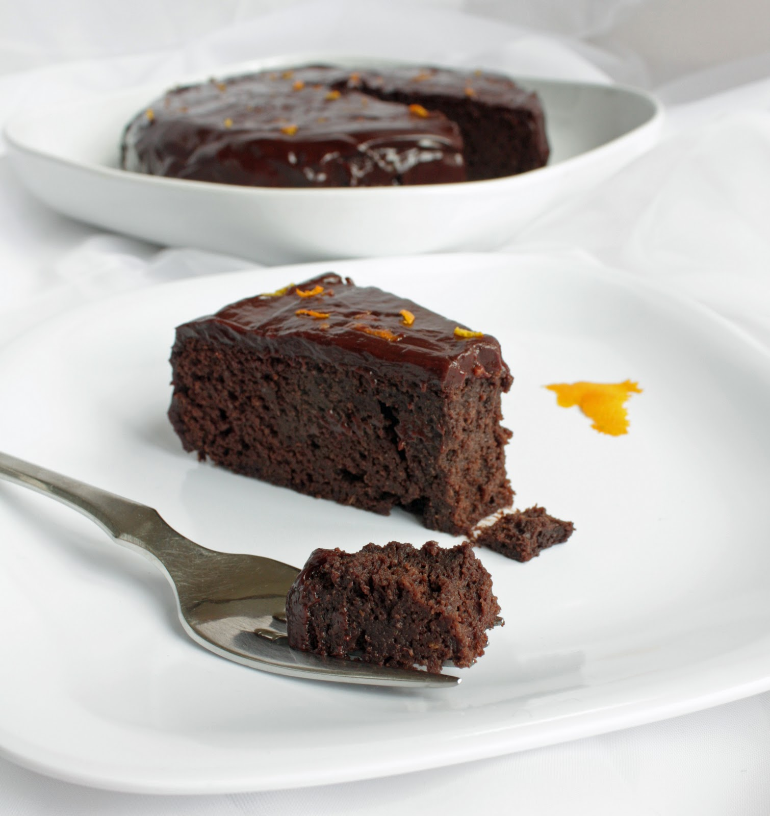 Chocolate Orange Garbanzo Bean Cake