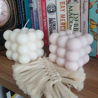 Evde doğal mum yapımı için balmumu