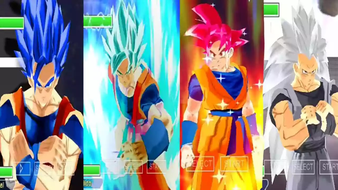 Goku Blue God and Goku SSB Evolution
