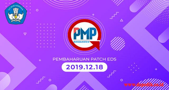 Rilis Perbaikan Sistem Aplikasi Penjaminan Mutu Pendidikan Installer Dan Patch EDS Offline Versi 2019.12.18