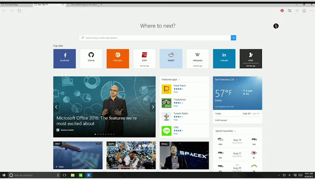 متصفح مايكروسوفت إيدج في ويندوز 10