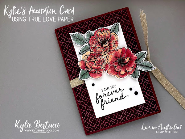 Kylie's Accordion Card with True Love Designer Series Paper