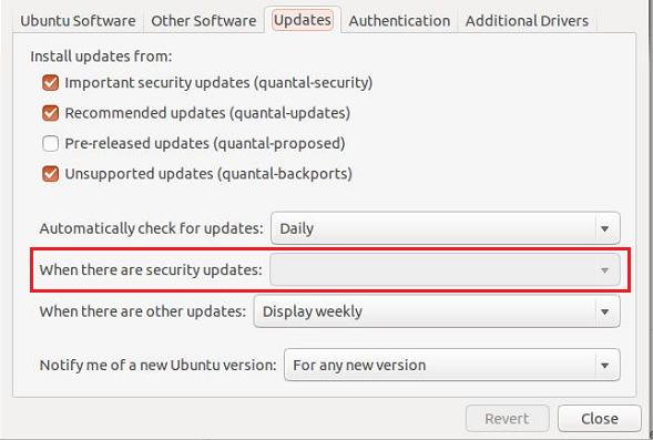 إبقى في أمان عن طريق تشغيل التحديث الأمني التلقائي على نظام أوبنتو