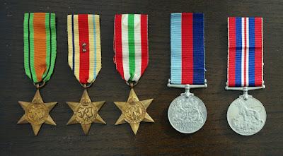 Sgt Alec Davis - WW2 medals