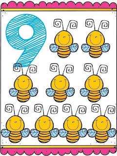 Tarjetas imprimibles números 1 al 10