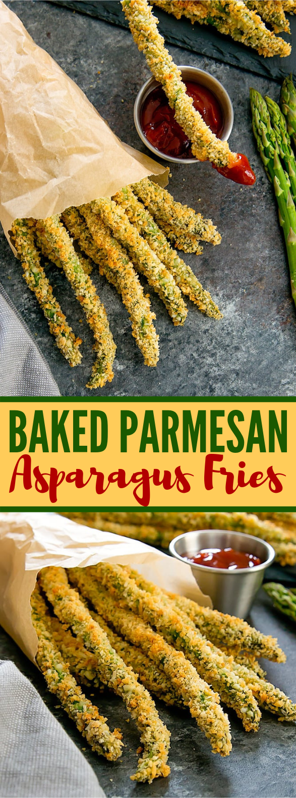 BAKED PARMESAN ASPARAGUS FRIES #vegetarian #veggies