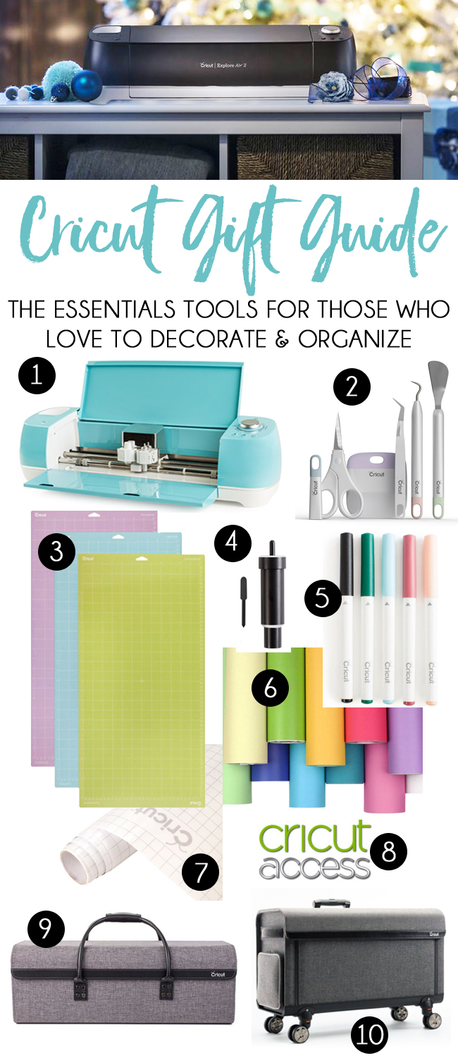 Cricut Gift Guide for Those Who Love Decor and Organization