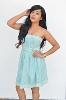 Sahana New cute Telugu Actress in Sky Blue Small Sleeveless Dress ~  Exclusive Galleries 027.jpg