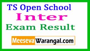 TS Open School Inter Results 2017 / TSOSS Inter Results Download