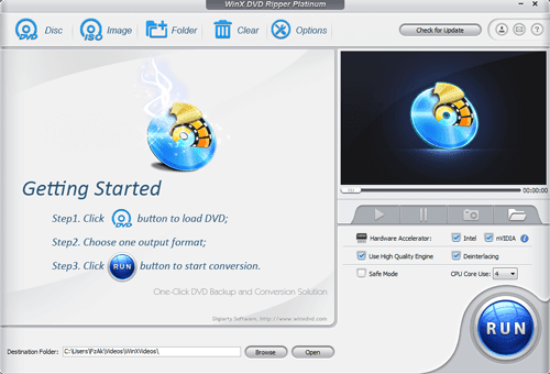 WinX DVD Ripper Platinum Full Version Main
