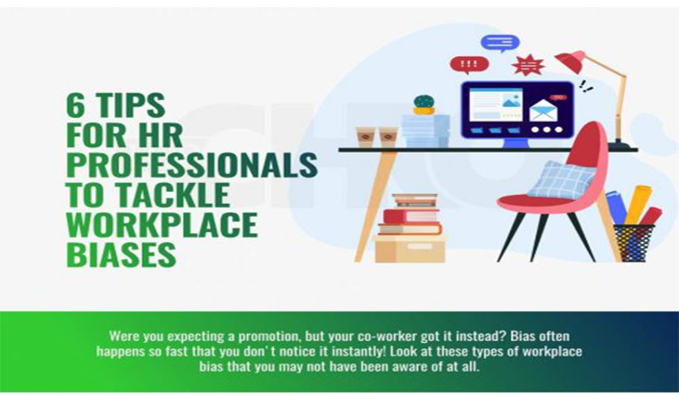 6 Tips for HR Professionals to Tackle Workplace Biases #infographic