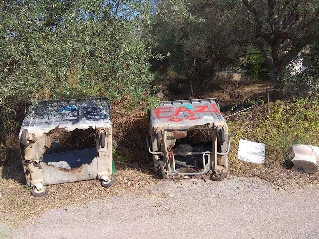 Ηγουμενίτσα: Απαράδεκτη η κατάσταση των κάδων στην Σκορπιώνα (+ΦΩΤΟ)