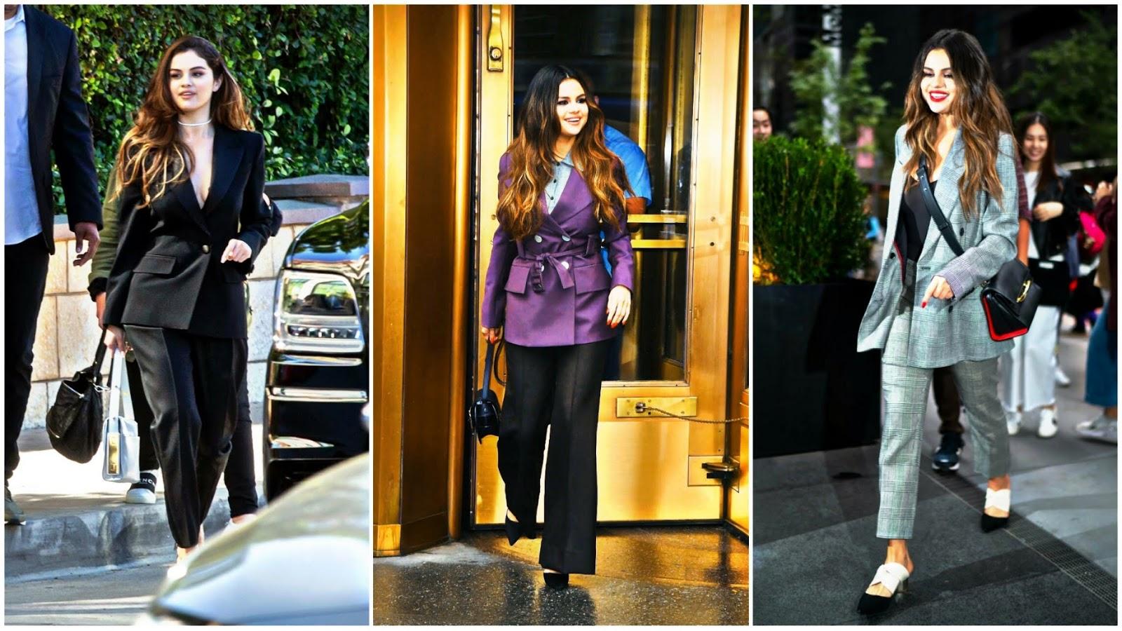 Selena Gómez en traje