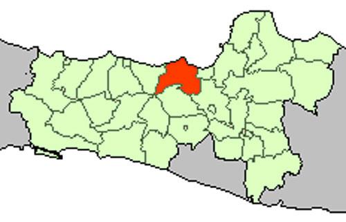 Gambar Letak Kabupaten Kendal di Peta Buta Jawa Tengah