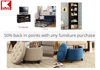 Kmart Furniture Deals 50 Back In Credit Of Your Purchase Price Extra 20 Credit Over 50