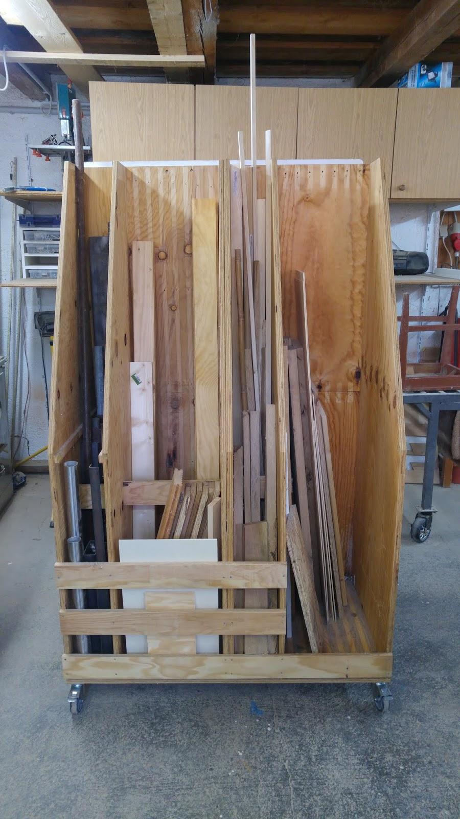 Holz Metall Und Smart Home Rollwagen Für Holzreste Lumber Rack