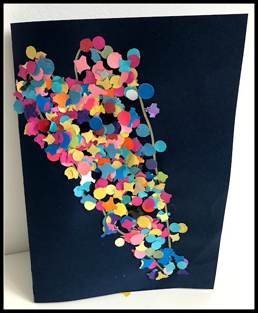 idée utilisation confettis carnaval