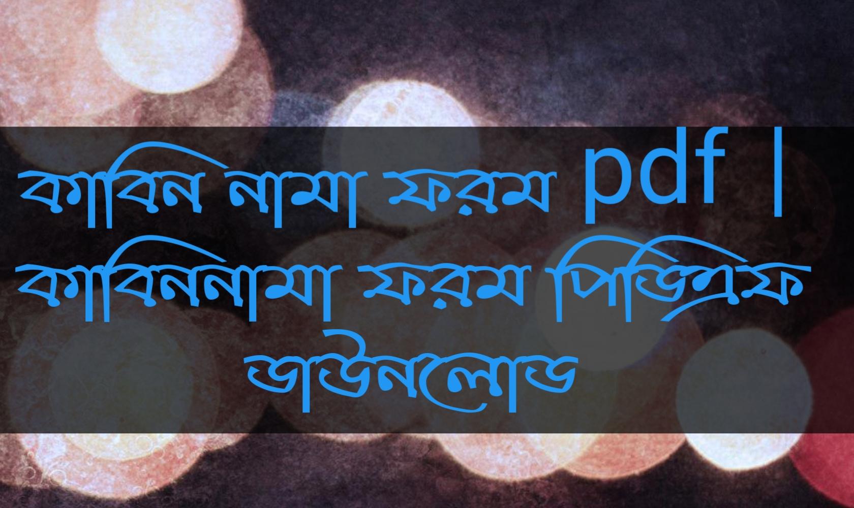 কাবিন নামা ফরম pdf, কাবিননামা ফরম পিডিএফ ডাউনলোড, কাবিননামা ফরম পিডিএফ, কাবিন নামা ফরম pdf download,