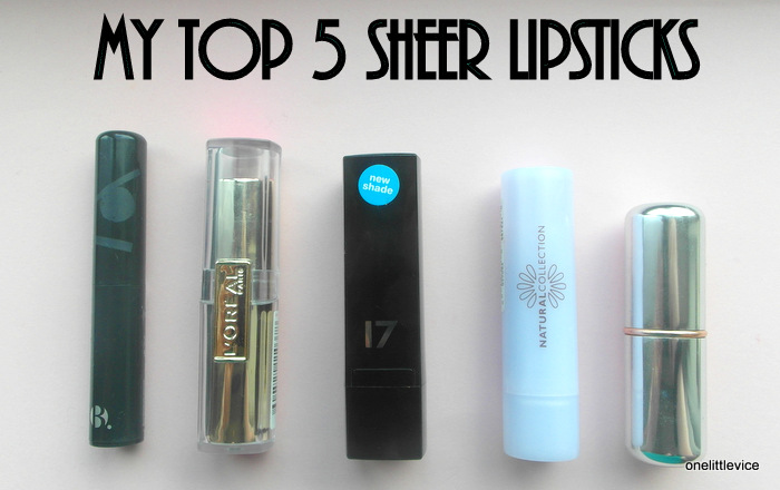 Guest post: One Little Vice's top 5 sheer lipsticks | Tales