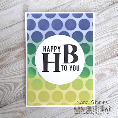 Birthday card with stencil